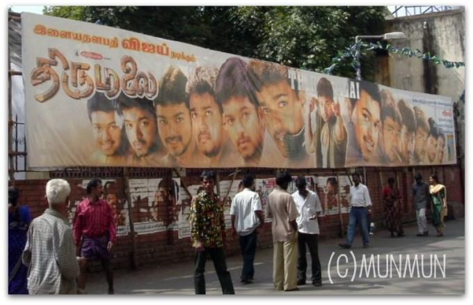 こんな、ヴィジャイだらけの映画看板も作られちゃう! 【Thirumalai】(2003年)