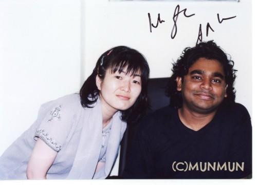 2001年8月にお会いできたときの写真。 (2003年12月のコンサートで再会したときにサインをいただいたもの)