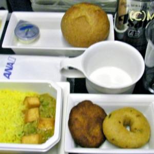 機内食マニア:20080829 NH0901便 インド人向けベジタリアン食