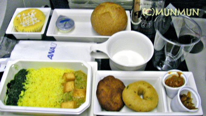 全日空のインディアン・ヴェジ機内食!