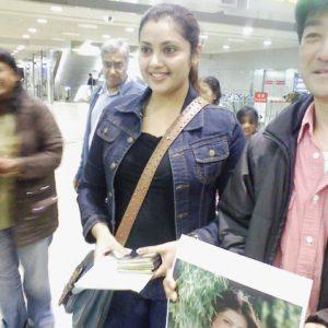 ミーナちゃん、成田空港到着