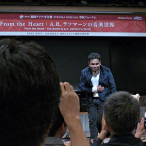 A.R.ラフマーン来日(福岡&広島)祝!福岡アジア文化賞大賞受賞