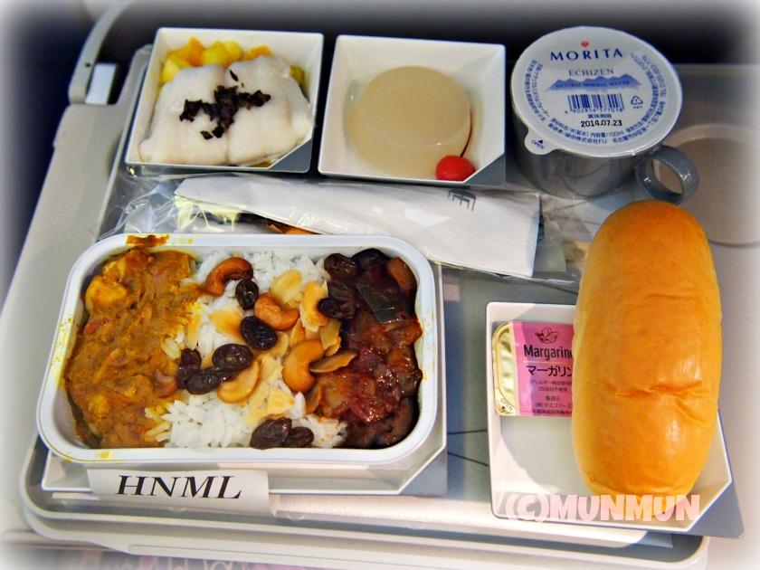 機内食マニア:20130824マレーシア航空MH89便のHindu機内食☆